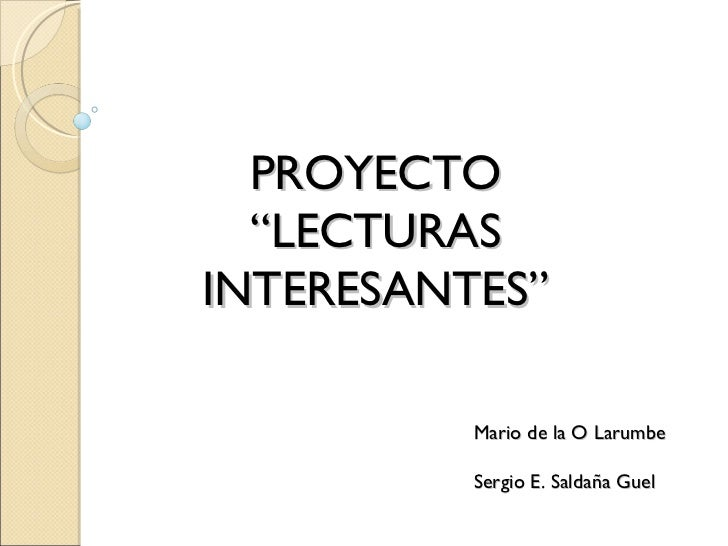 """Lecturas Interesantes"""