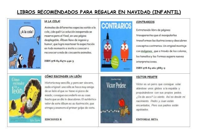 LIBROS RECOMENDADOS PARA REGALAR EN NAVIDAD (INFANTIL)