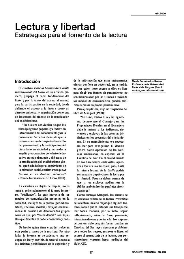 Lectura y libertadEstrategias para el fomento de la lecturaIntroducciónEl Estatuto sobre la Lectura del ComitéInternaciona...