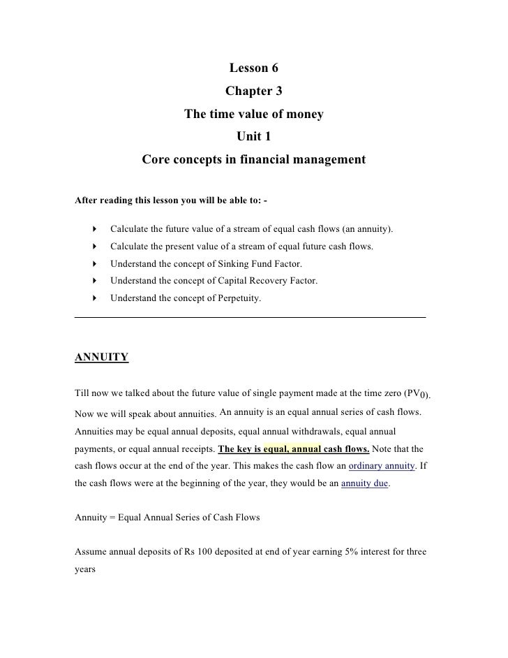 Lesson 6                                       Chapter 3                            The time value of money               ...