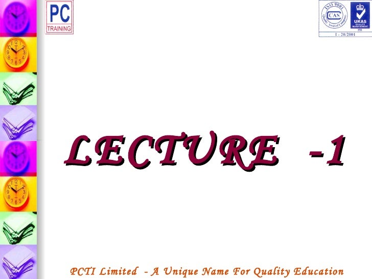 LECTURE  -1