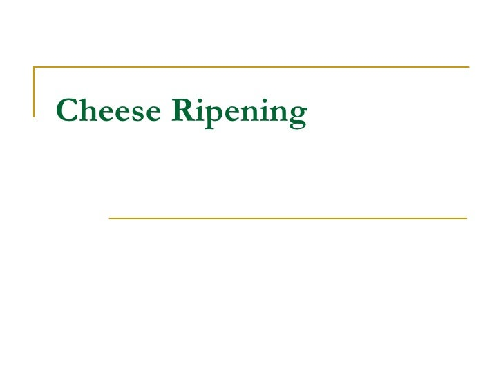 Cheese Ripening