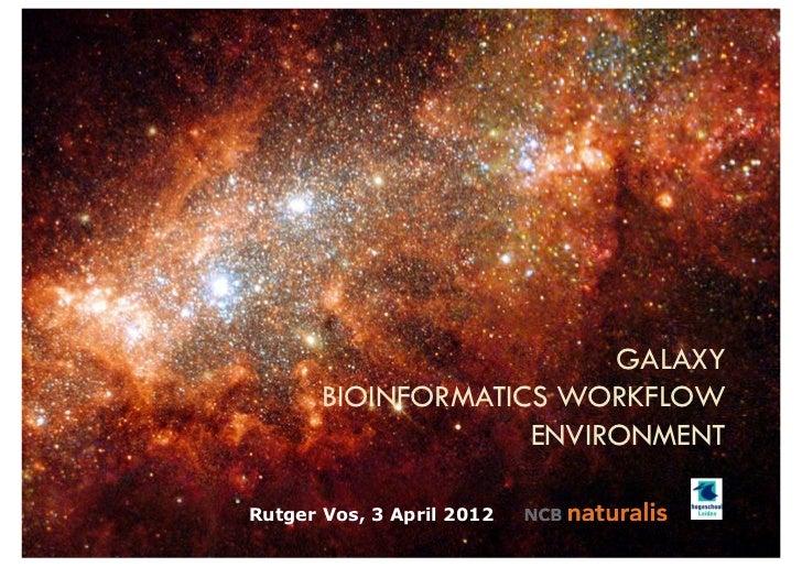 GALAXY       BIOINFORMATICS WORKFLOW                    ENVIRONMENTRutger Vos, 3 April 2012