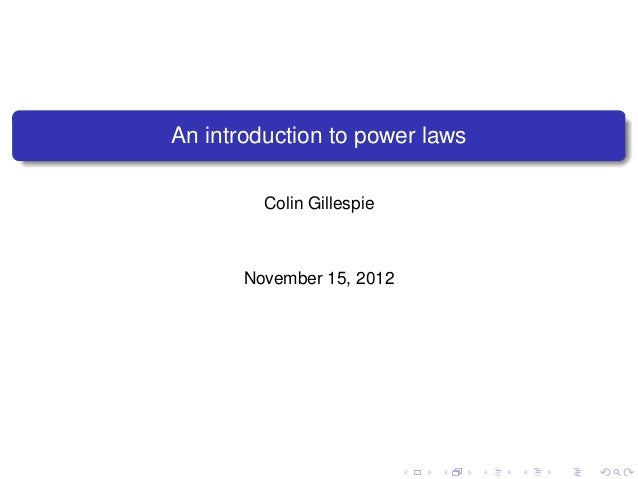 Introduction to power laws
