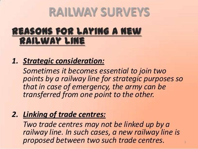 Surveys & alignment of Railway Engineering