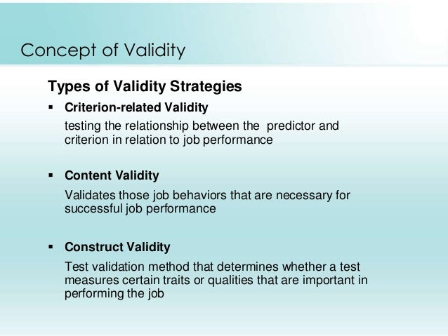 quality and validity in test Validity will tell you how good a test is for a particular situation reliability will tell you how trustworthy a score on that test will be you cannot draw valid conclusions from a test score unless you are sure that the test is reliable even when a test is reliable, it may not be valid you should be careful that any test you select is both reliable and valid for your.
