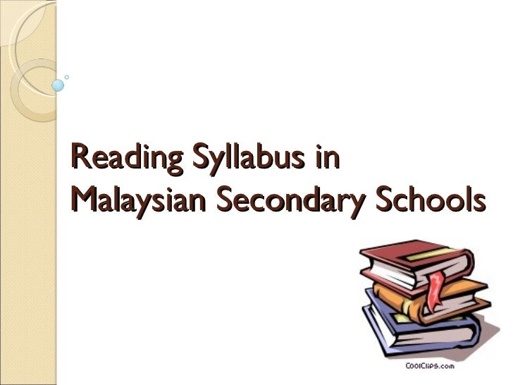 Reading Syllabus in  Malaysian Secondary Schools