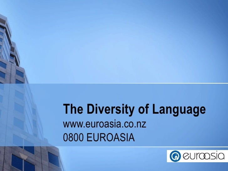 The diversity of language