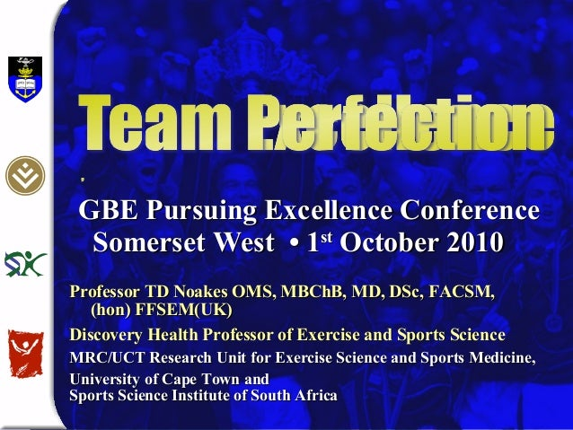 Team Excellence by Tim Noakes