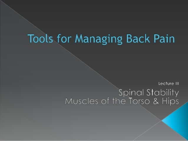 Lecture  III Muscle Imbalances