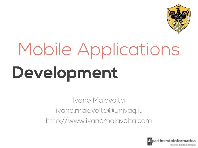 Mobile Applications Development - Lecture 0 - Spring 2013