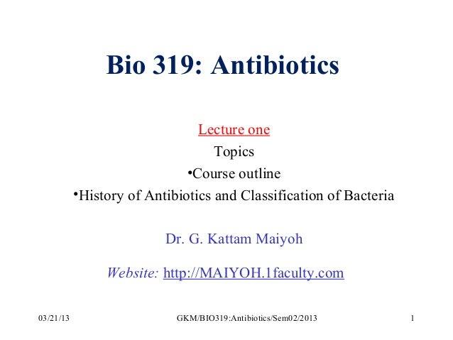 Antibiotics Lecture 01
