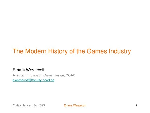CFC Day 2 The game industry and game design