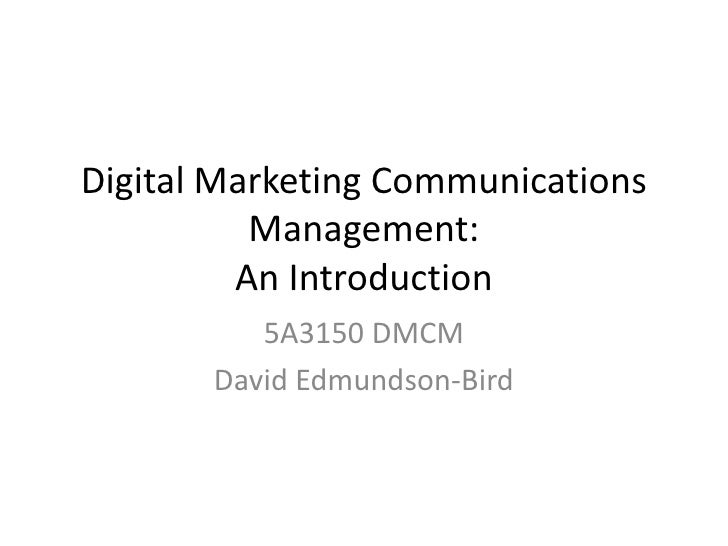 Lecture 02 Introduction to DMCM