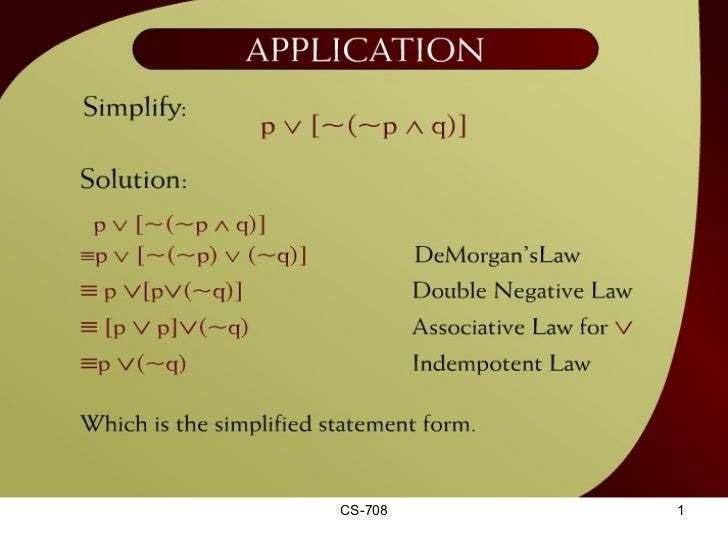 CS-708 Application - 1