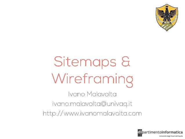 Sitemaps & Wireframing