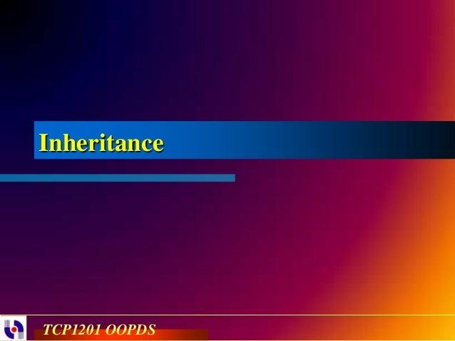 InheritanceTCP1201 OOPDS
