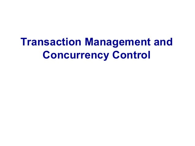 Transaction concurrency control