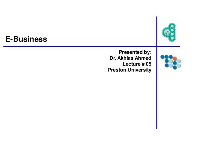 Lecture # 05 (e-business)