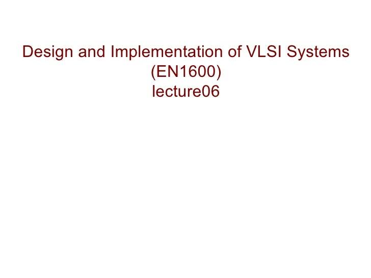 vlsi Lecture06
