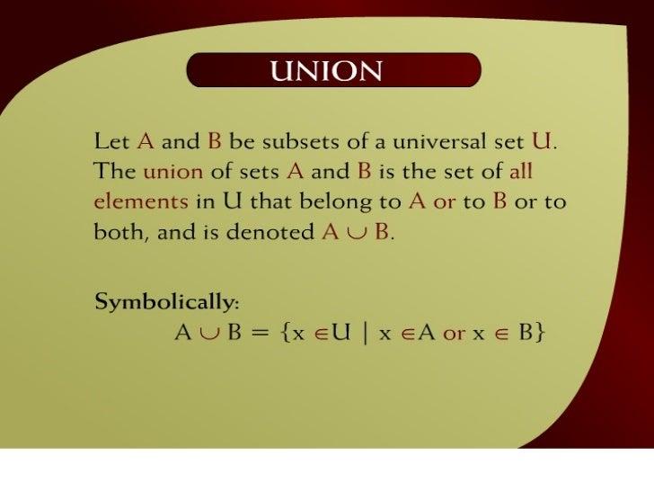 Union – (8 - 2)