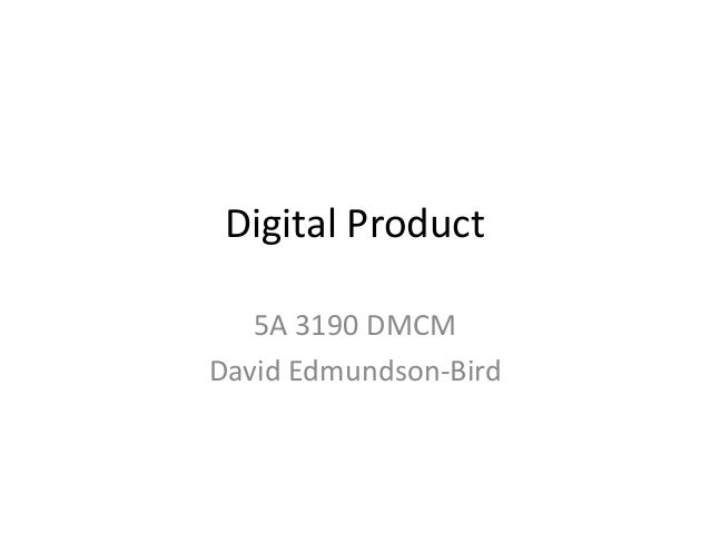 Digital Product 5A 3190 DMCM David Edmundson-Bird