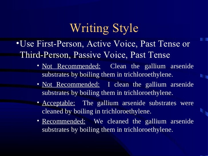 Passive voice in technical writing