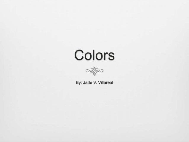 Lecture 1 colors