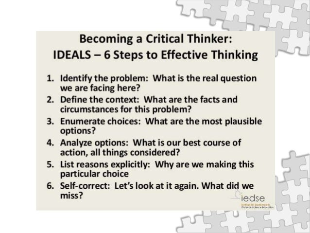 introduction to critical thinking and reasoning skills 1 introduction: critical thinking in environmental science 1 11 critical thinking is what counts this site is intended to develop critical thinking skills that will.