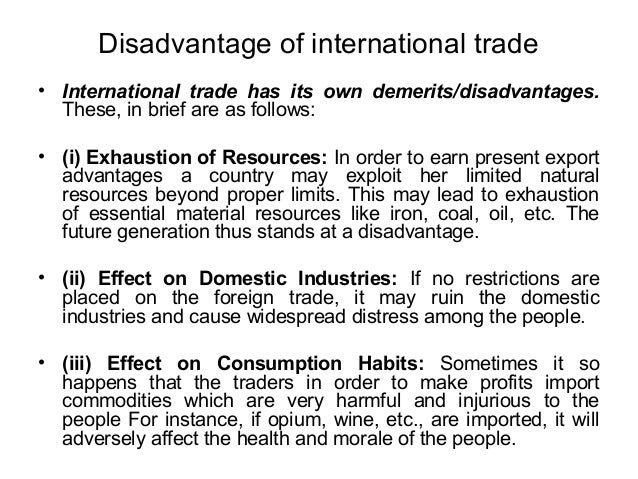 benefits of international trade essay Abstracts of published papers are available in the international benefits of free trade to show the complexity of benefits and threats of free trade.