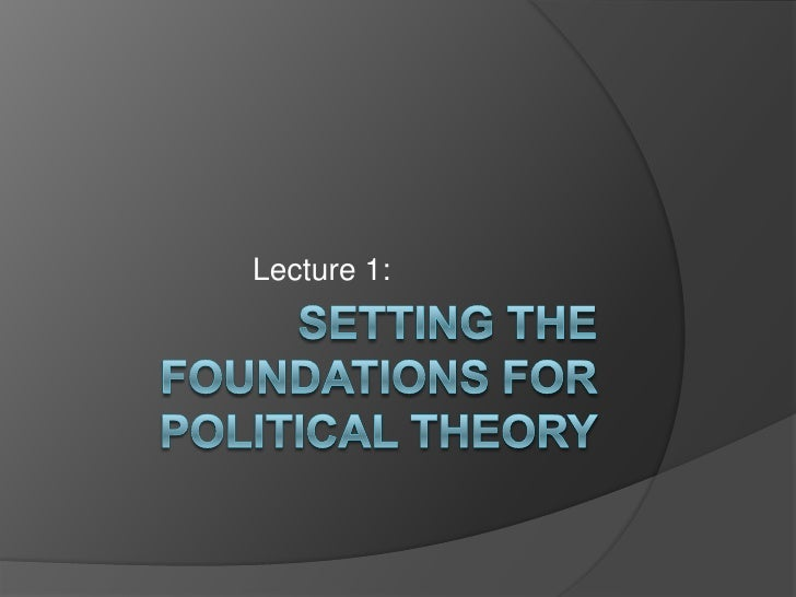 Lecture 1 -power, theory, & overview