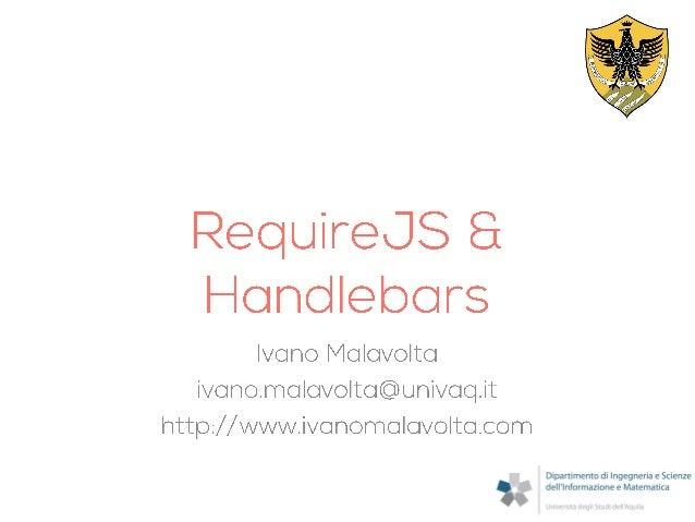 RequireJS & Handlebars