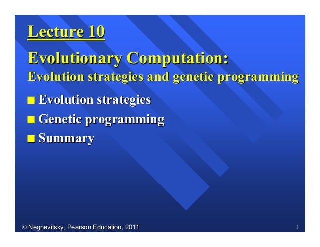 2013-1 Machine Learning Lecture 07 - Michael Negnevitsky - Evolutionary Co…