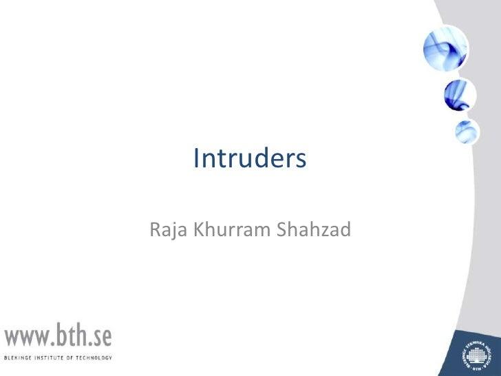 Lecture 10 intruders