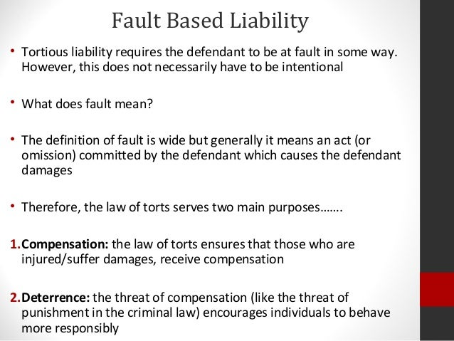 fault element in delict Based on vicarious liability8 even though fault relates to negligence and  a  brief exposition of causation as an element of delict in south african law is.