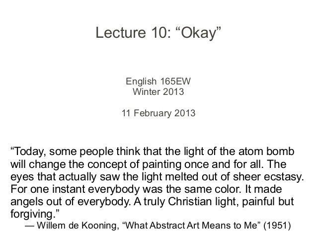 """Lecture 10 - """"Okay"""""""