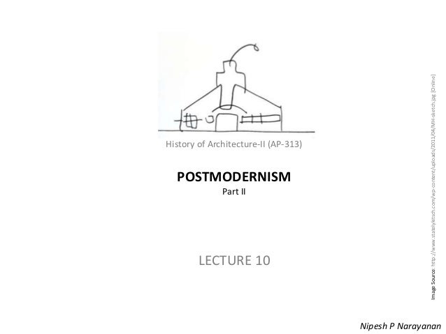 History of Architecture - II (AP-313) – Postmodernism History of Architecture-II (AP-313) POSTMODERNISM Part II LECTURE 10...