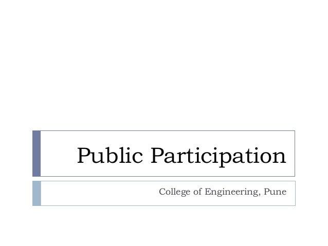 104 Public Participation I