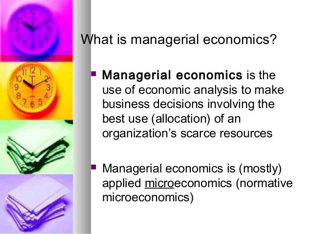 Managerial Economics Lecture 1 07