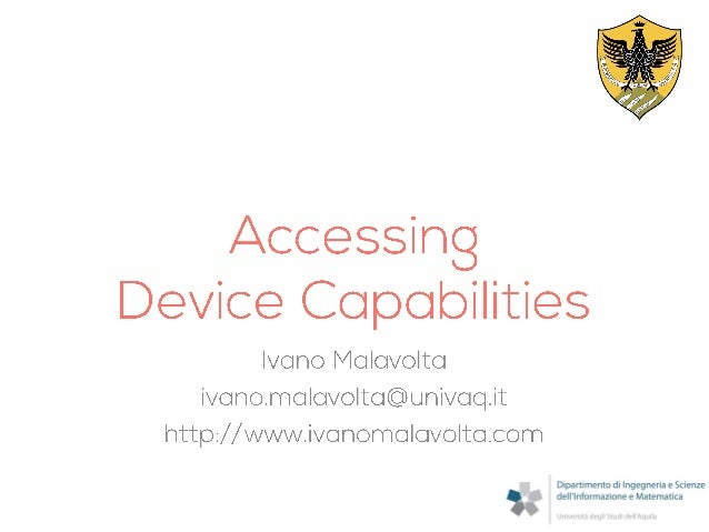 PhoneGap: Accessing Device Capabilities