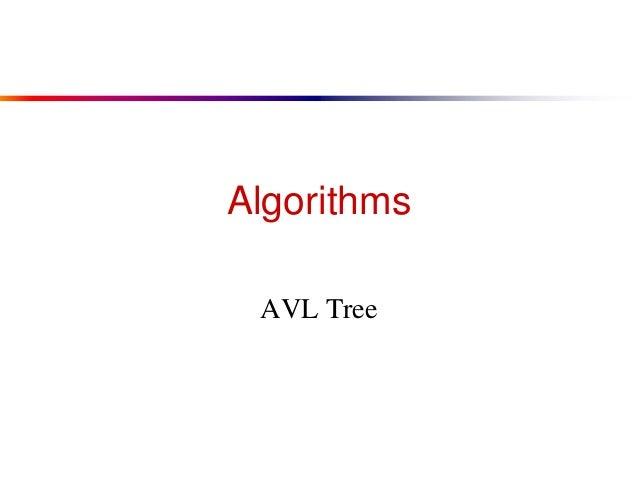 Algorithms AVL Tree