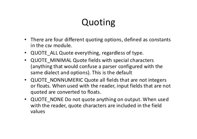 Python writerow quotes