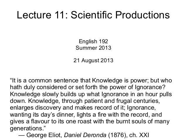 Lecture 11 - Scientific Productions