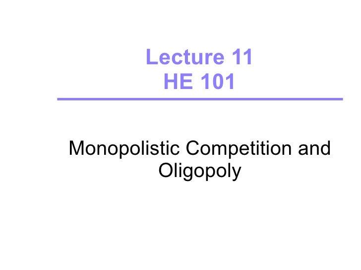 Lecture 11 oligopoly