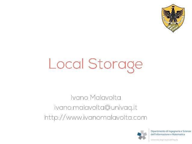 PhoneGap: Local Storage