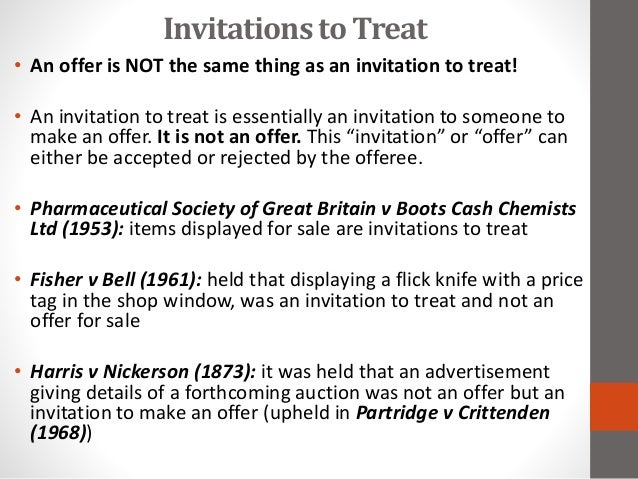 Invitation to treat contract law
