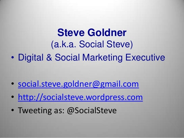 Social Marketing (Presented at St. John's 120213)
