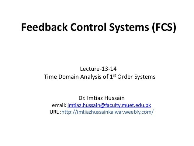Lecture 13 14-time_domain_analysis_of_1st_order_systems