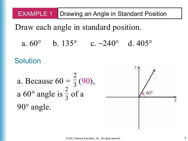 angles in standard position worksheet pdf