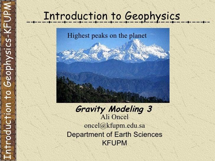 Gravity Modeling 3
